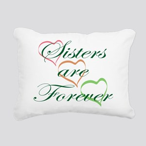 Sisters Are Forever Rectangular Canvas Pillow