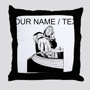 Custom DJ Spinning Throw Pillow