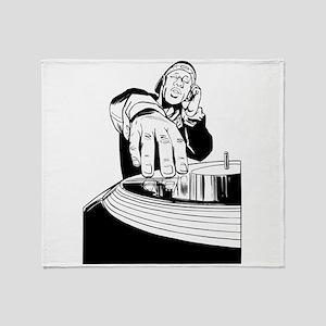 DJ Spinning Throw Blanket
