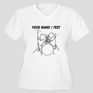 Custom Drum Set Plus Size T-Shirt