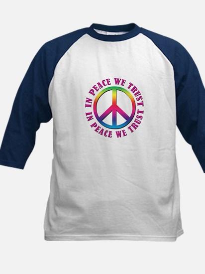 In Peace We Trust Kids Baseball Jersey