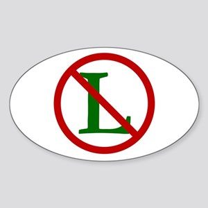 NOEL (NO L Sign) Oval Sticker