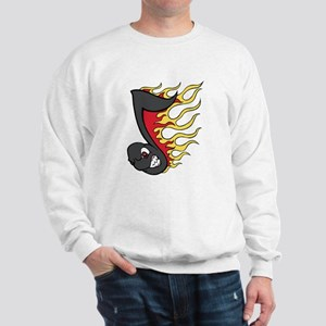 Flaming Eighth Note Sweatshirt