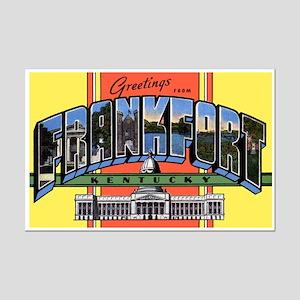 Frankfort Kentucky Greetings Mini Poster Print