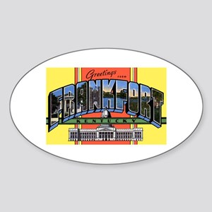 Frankfort Kentucky Greetings Oval Sticker