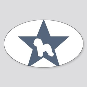 Bichon Frise Star Rectangle Sticker