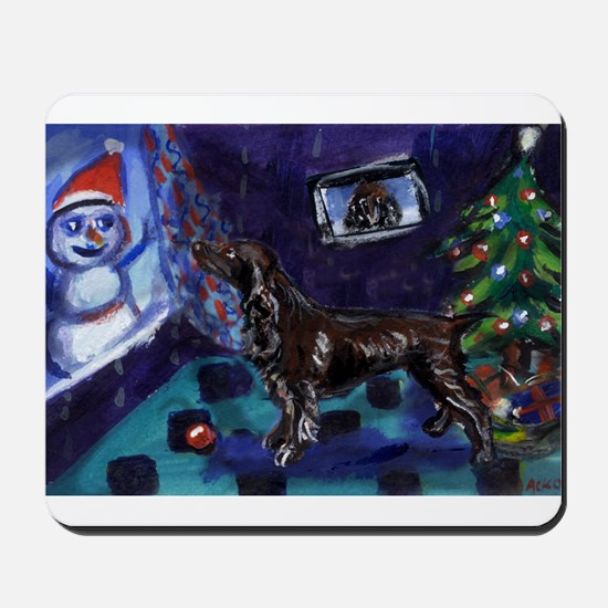 field spaniel Christmas Mousepad