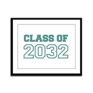 Class of 2032 Framed Panel Print