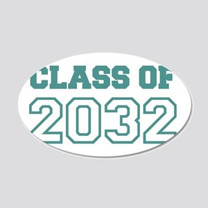 Class of 2032 20x12 Oval Wall Decal