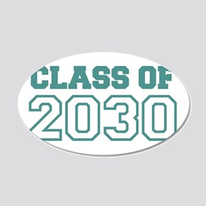 Class of 2030 20x12 Oval Wall Decal