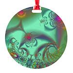 Jeweled Staircase, Kaleidoscope Round Ornament