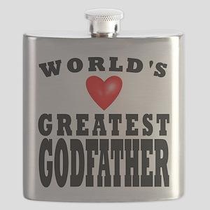 Worlds Greatest Godfather Flask