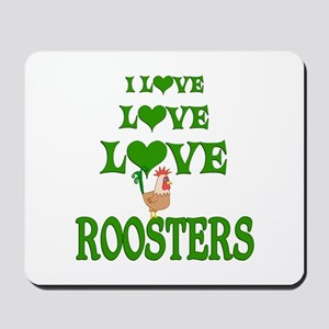 Love Love Roosters Mousepad
