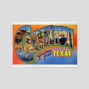 Galveston Texas Greetings Rectangle Magnet