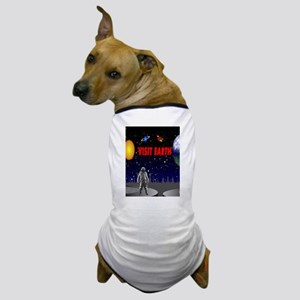 Visit Earth Spaceman Dog T-Shirt
