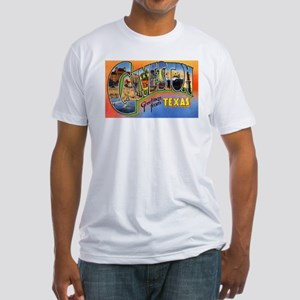 Galveston Texas Greetings (Front) Fitted T-Shirt