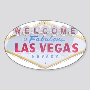 Las Vegas Sign Logo Rectangle Sticker