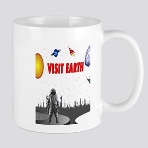 Visit Earth Spaceman Mug