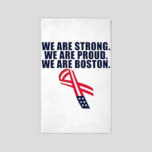 Boston Strong 3'x5' Area Rug