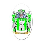 Carbonel 35x21 Oval Wall Decal