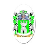 Carbone 35x21 Oval Wall Decal