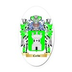 Carbo Oval Car Magnet