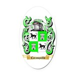 Carasquillo Oval Car Magnet
