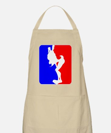 Red & Blue Sporty Omaha Hare BBQ Apron