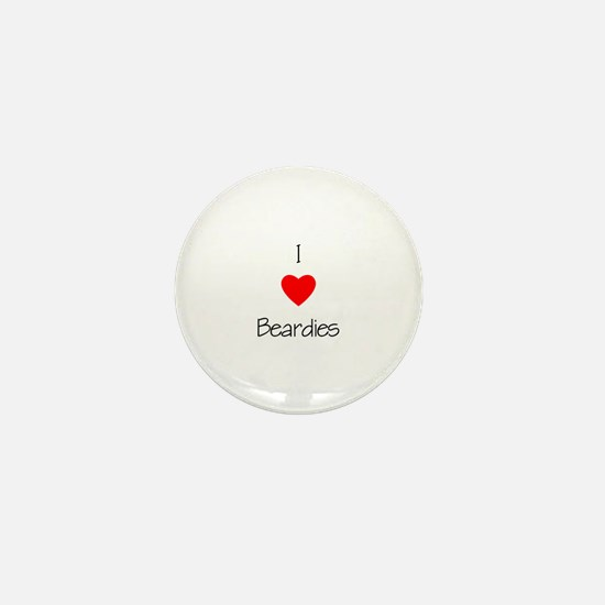 I Love Beardies Mini Button
