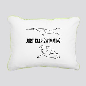 Just Keep Swimming Rectangular Canvas Pillow