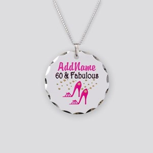 60 YR OLD SHOE QUEEN Necklace Circle Charm