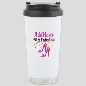 60 YR OLD SHOE QUEEN Stainless Steel Travel Mug