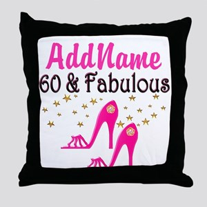 60 YR OLD SHOE QUEEN Throw Pillow
