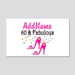 60 YR OLD SHOE QUEEN 20x12 Wall Decal