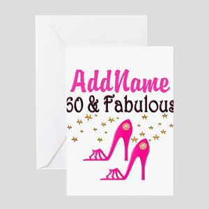 60 YR OLD SHOE QUEEN Greeting Card