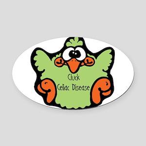 3-cluck-celiac-disease Oval Car Magnet