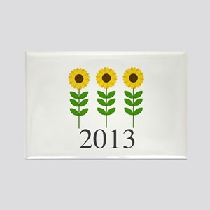 Personalizable Sunflowers Rectangle Magnet