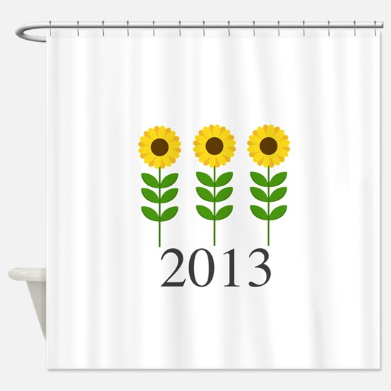 Personalizable Sunflowers Shower Curtain