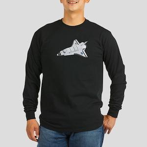 Space Shuttle Long Sleeve Dark T-Shirt
