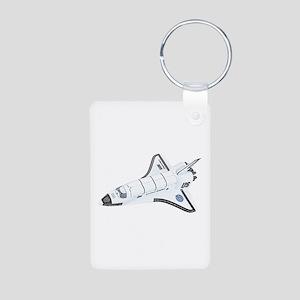 Space Shuttle Aluminum Photo Keychain