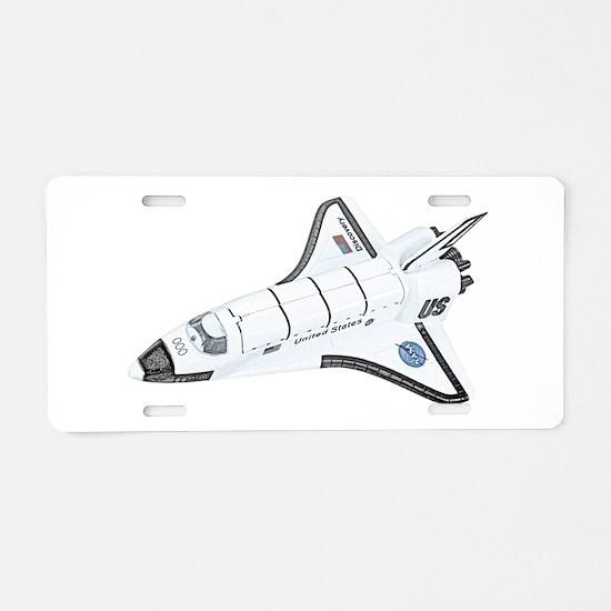 Space Shuttle Aluminum License Plate