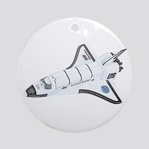 Space Shuttle Ornament (Round)