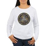 Bejeweled Celtic Shield Women's Long Sleeve T-Shir