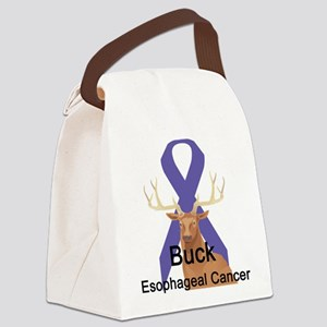 buck-esophageal-cancer Canvas Lunch Bag