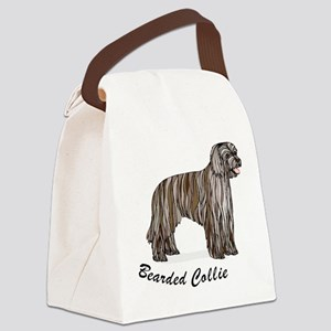 bearded-collie2,i-love-my,p Canvas Lunch Bag