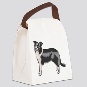 boarder-collie Canvas Lunch Bag