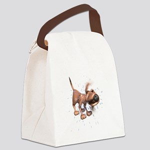 dog-shaking Canvas Lunch Bag