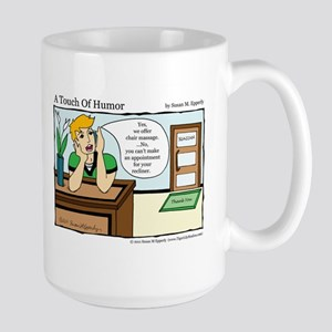 A Touch of Humor Chair Massage Comic Mug