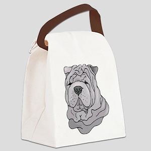 shar pei copy Canvas Lunch Bag