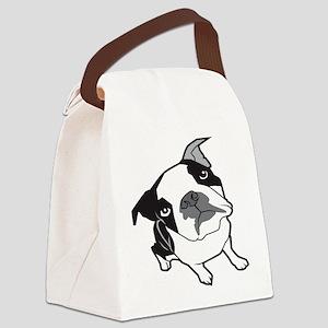 bterrier,black Canvas Lunch Bag